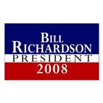 Bill Richardson: President Rectangle Sticker