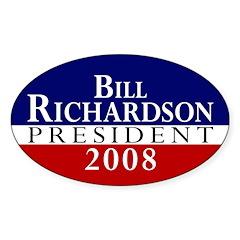 Bill Richardson: President Oval Decal