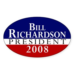 Bill Richardson: President Oval Decal