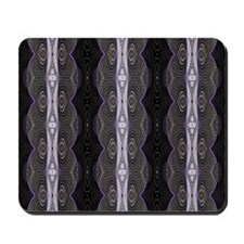 Black White Lace Pattern  Mousepad