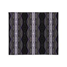 Black White Lace Pattern  Throw Blanket
