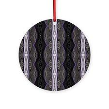 Black White Lace Pattern  Round Ornament