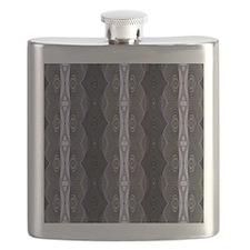 Black White Lace Pattern  Flask