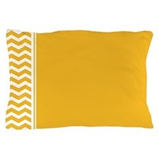 Mustard Yellow Chevron Pillow Case