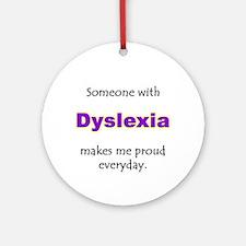 """Dyslexia Pride"" Ornament (Round)"