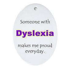 """""""Dyslexia Pride"""" Oval Ornament"""