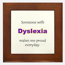 """Dyslexia Pride"" Framed Tile"