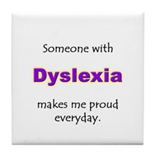 """Dyslexia Pride"" Tile Coaster"