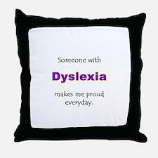 """""""Dyslexia Pride"""" Throw Pillow"""