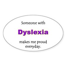 """Dyslexia Pride"" Oval Decal"