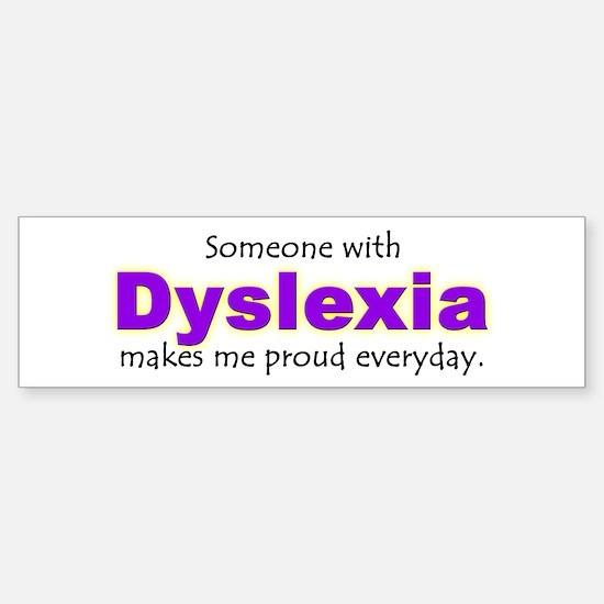 """Dyslexia Pride"" Bumper Car Car Sticker"