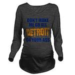Detroit Baseball Long Sleeve Maternity T-Shirt