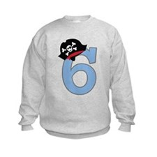 6th Birthday Pirate Sweatshirt