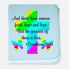 1 CORINTHIANS 13:13 baby blanket