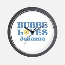 Personalized Bubbe Loves Me Star Wall Clock