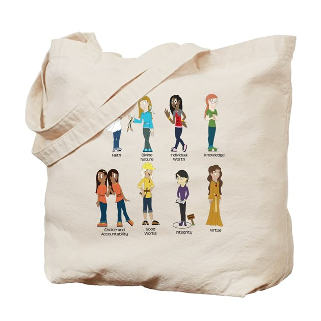 Young Women Values T Shirt Tote Bag By Grandeselections
