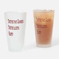 Not Zombies Red Drinking Glass