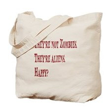 Not Zombies Red Tote Bag
