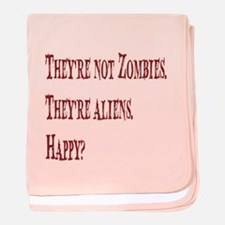 Not Zombies Red baby blanket