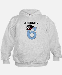 Personalized 6th Birthday Pirate Hoodie