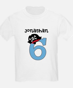 Personalized 6th Birthday Pirate T-Shirt