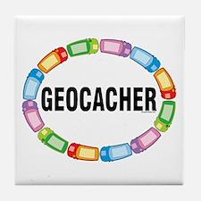 GPS Oval Tile Coaster