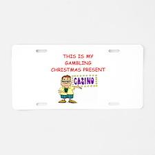 GAMBLING Aluminum License Plate