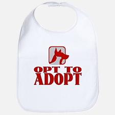 Opt To Adopt (red) Bib