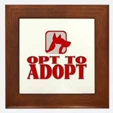 Opt To Adopt (red) Framed Tile
