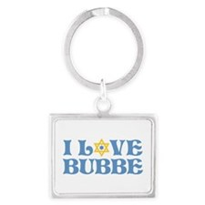 I love Bubbe Star Landscape Keychain
