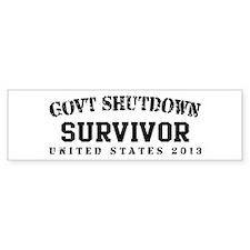 Survivor - GovtShut13 Bumper Sticker