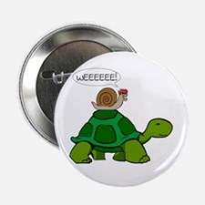 "Snail on Turtle 2.25"" Button"