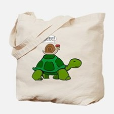 Snail on Turtle Tote Bag
