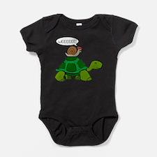 Snail on Turtle Baby Bodysuit