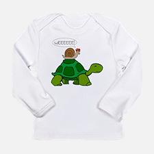Snail on Turtle Long Sleeve T-Shirt