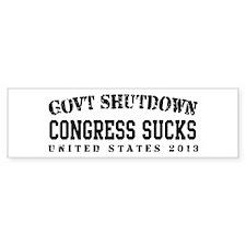 CongressSucks - GovtShut13 Bumper Sticker