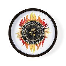 Hunger Games Tick Tock Flames Wall Clock