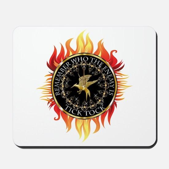 Hunger Games Tick Tock Flames Mousepad