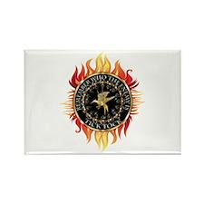 Hunger Games Tick Tock Flames Rectangle Magnet
