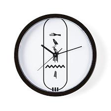 "Dwayne in Hieroglyphics ""Blac Wall Clock"