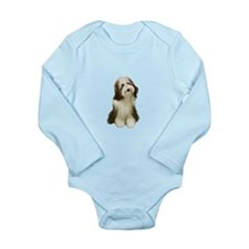 Bearded Collie (V) Long Sleeve Infant Bodysuit