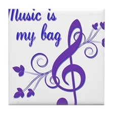 music bag.png Tile Coaster