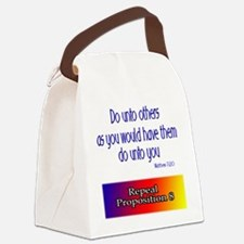 untoothers_rainbow.png Canvas Lunch Bag
