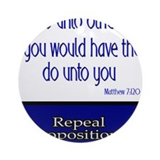 Repeal Prop 8 Ornament (Round)