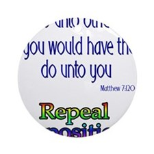 Repeal Prop 8 RBL Ornament (Round)