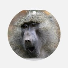 Olive Baboon Ornament (Round)
