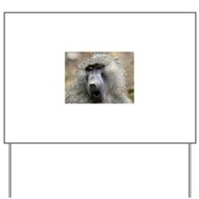 Olive Baboon Yard Sign