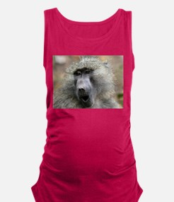 Olive Baboon Maternity Tank Top