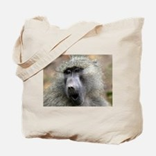 Olive Baboon Tote Bag