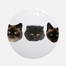 3CATS.png Ornament (Round)